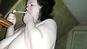 This sluts face is a canvas and she always wants me to paint it with my cum
