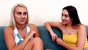 Indica Monroe and her straight best friend Sera Ryder try lesbian sex