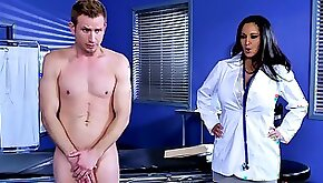 Dr. Ava Addams giving a blowjob getting rammed by patient