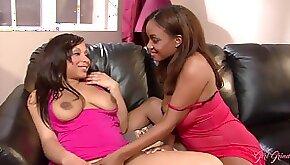Ebony babes Miss Tia and Sinnamon Love Lesbian Sex