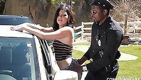 Black cop banging wet pussy of Jessica Rex