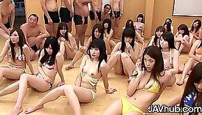 Huge hardcore uncensored Japanese orgy