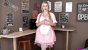 Ardent pigtailed sweetheart Georgie Lyall is maid who loves to masturbate