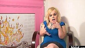 Blonde midget masturbates while watching her girlfriend masturbate