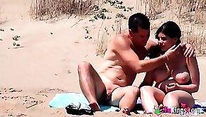 Hot sex on the public beach