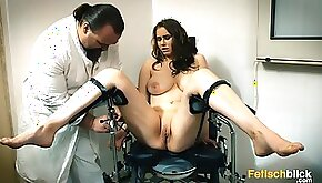 Busty brunette girl at the doctor hardcore hospital