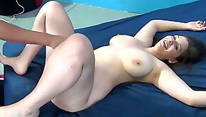 Full natural plump chick gets her muff slammed missionary style