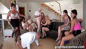 Perverted Grandparents Orgy