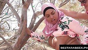 Meaty Jugs Arab Doll in Hijab Ravaged outside