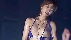 Micro bikini oily dance akane