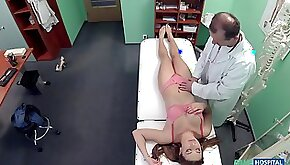 Medical exam turns into fucking on the hospital bed with cute patient