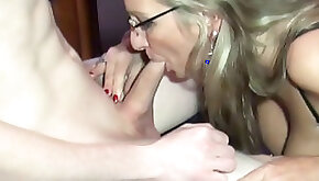German Stepmom Teach Virgin Young Boy How to Fuck right