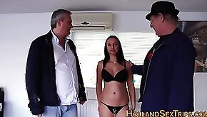 Busty hooker gets his ass fucked by older dudes old and young amateur hardcore