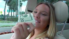 Sweet blonde got money for wild sex
