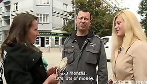 Czech couple for cash agrees to have sex with couple