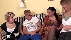 Hot milfs and their younger lover