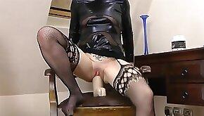 Kinky milf huge dildo