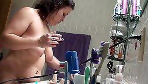 Smoking Mom Caught on Step Sons Spy Camera ALHANA WINTER Taboo Family