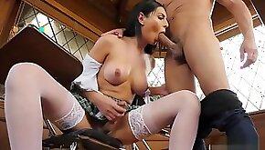 Gorgeous Trans schoolgirl Chanel Santini fucks during exam