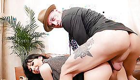 Big Tits German tgirl Bailey Paris sucks black dick and is barebacked