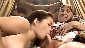 Asian Young Girl Casting made by Older Fat Grandpa