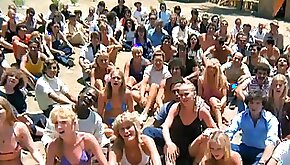 Hippie community with public nudity lesbian group sex