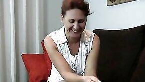 year old Shy MILF Inge Spreads her Legs