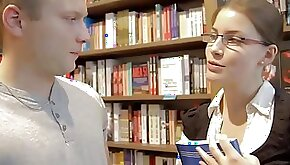 Sexy nerd girl gets kissed and seduced while tutoring a stud