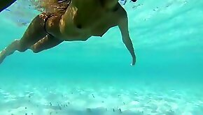 Caribbean vacation footage of his naked girlfriend