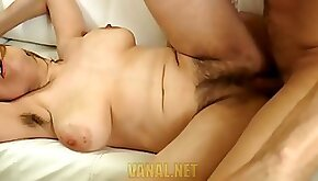Ass Sex Scene in group With her Hairy Mature Lady Milena