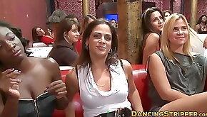 Beautiful babe fucked hard by stripper at a wild party