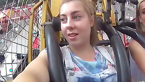 College Girl Orgasms On Rollercoaster
